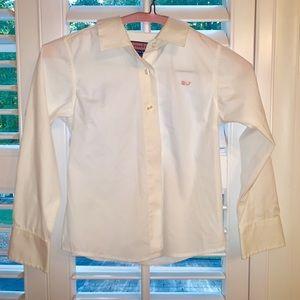 Vineyard Vines classic prep Oxford blouse